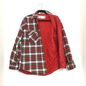Plaid Cotton Quilted Shacket( shirt jacket)